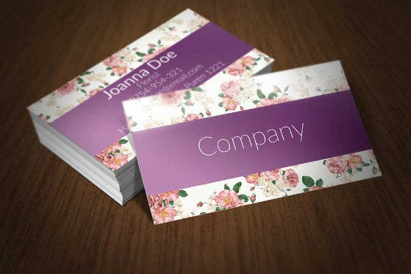 22 floral business cards free premium templates floral business card template accmission Choice Image