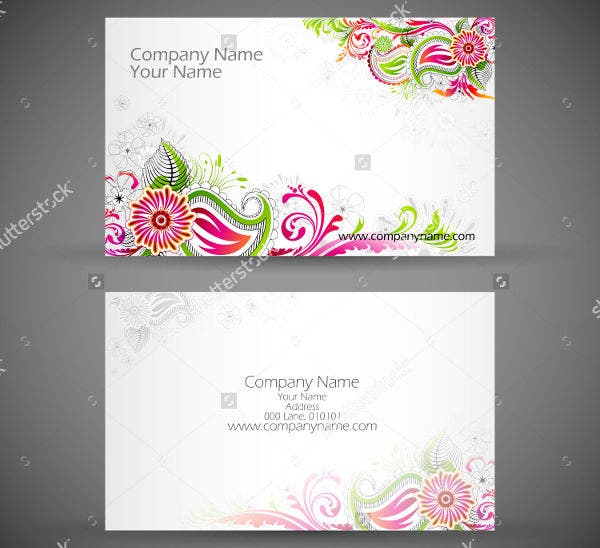 Floral Business Card Illustration
