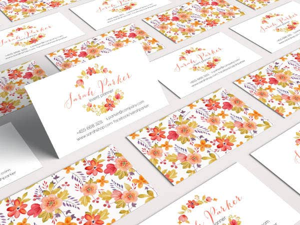 22 floral business cards free premium templates floral business card design accmission Choice Image