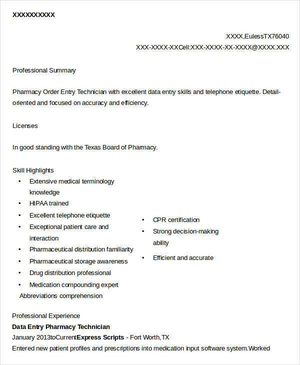 Data Entry Resume - 5+ Free Word, Pdf Documents Download | Free