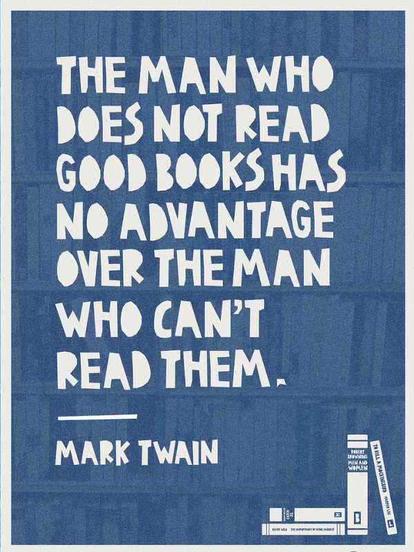 literary quote poster