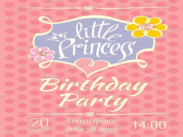 Princess Birthday Invitation Template