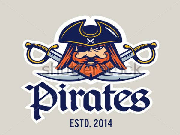 Pirate Captain Head Logo