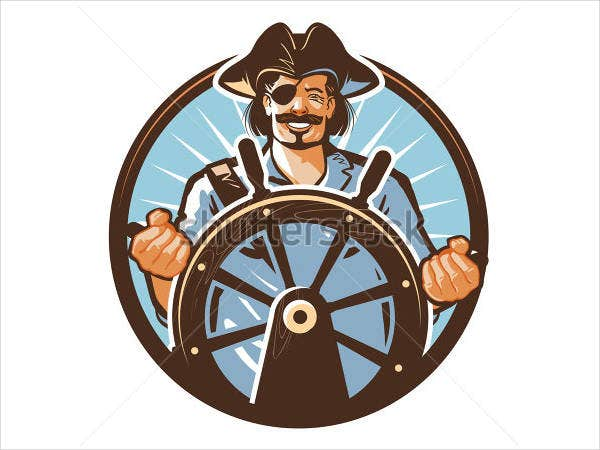 Pirate Ship Vector Logo