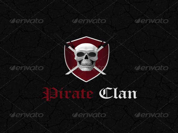 3D Pirate Logo