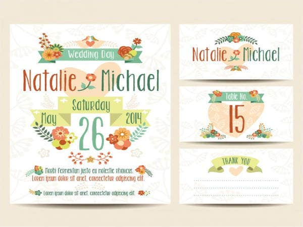 Free Wedding Printable Floral Set