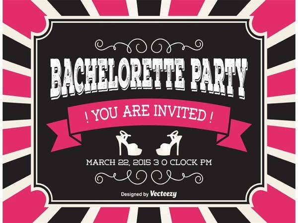 printable party invitations free psd vector eps ai format party invitations - Printable Bachelorette Party Invitations