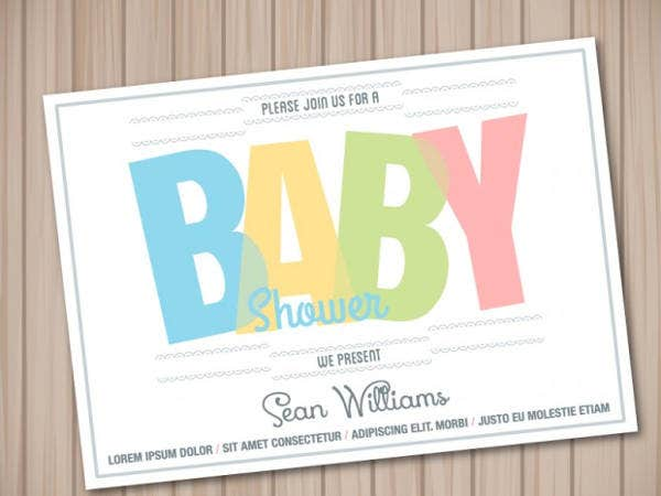 free baby shower card wooden template