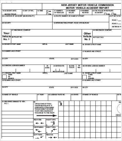 vehicle accident report form