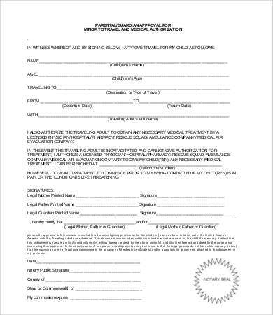 medical consent form for minors