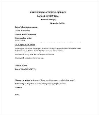 medical patient consent form