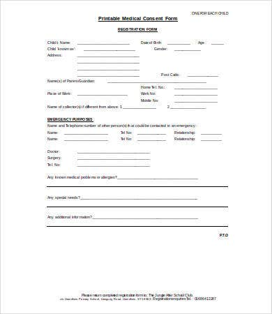 medical consent form 9 free pdf word documents download free
