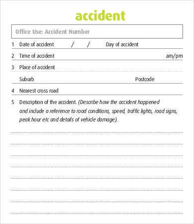 police accident report form