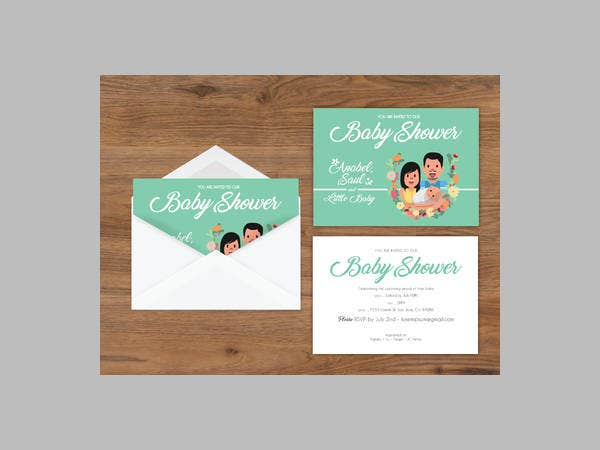 free simple printable baby shower invitation