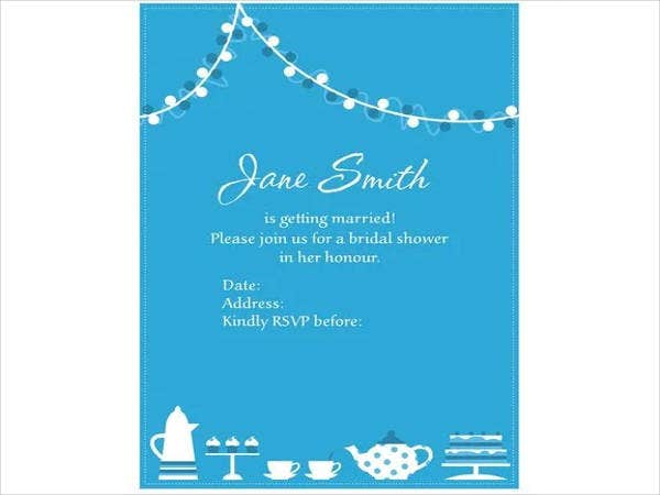 Free Invitation Vector for Bridal Shower