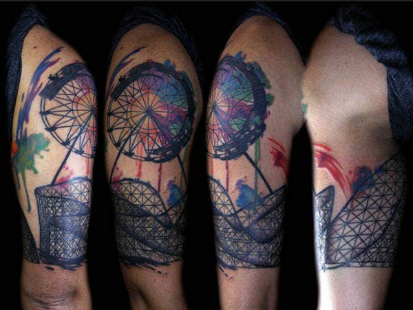 Farris Wheel Abstract Tattoo