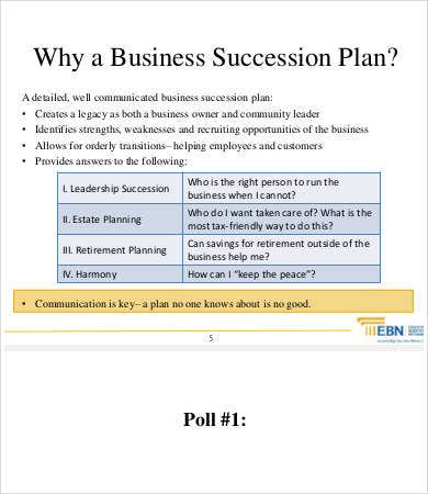 Bank Succession Planning Template