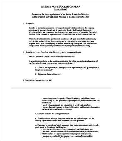 emergency succession plan template - 9 succession planning template free premium templates
