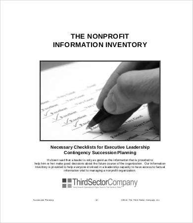 Nonprofit Succession Planning Template