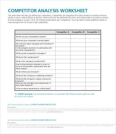 Competitor Analysis Worksheet