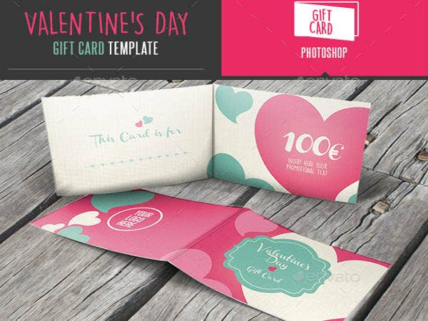 Valentines Day Gift Card Template