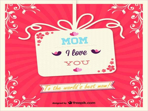 Free Mother Day Gift Card Template