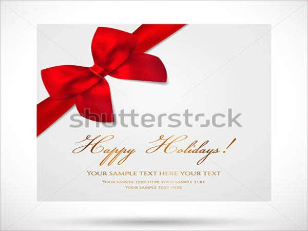 Holiday & Birthday Gift Card Template