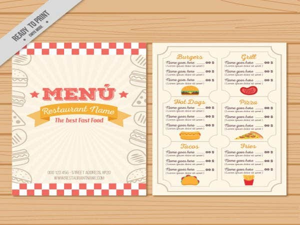 9 free menu templates free premium templates for To go menu template free