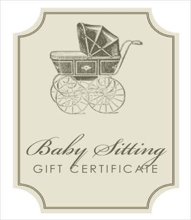 Printable gift certificate 7 free pdf psd format for Babysitting gift certificate template