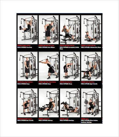 Exercise Chart - 7+ Free PDF Documents Download | Free