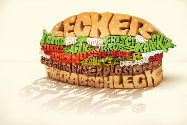 Typography Burger Design