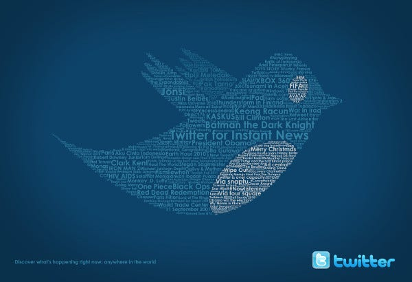 Typographic Twitter Advertising Design