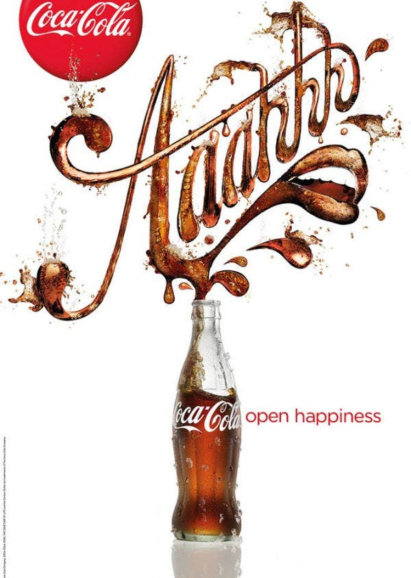 Cococola Advertising Design