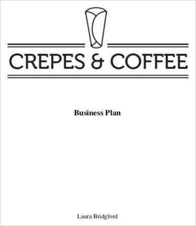 Crepes And Coffee Shop Business Plan Template