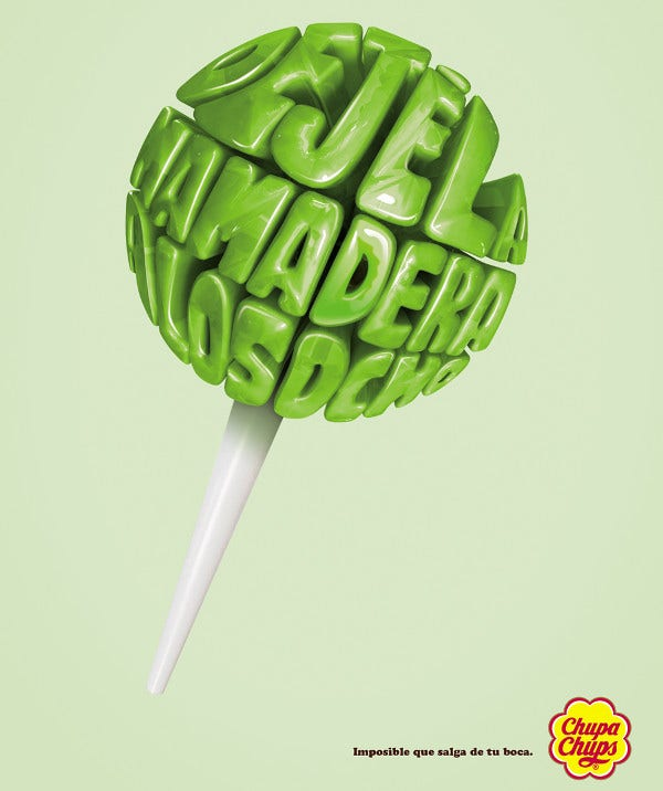 Chupa Chups Advertising Design