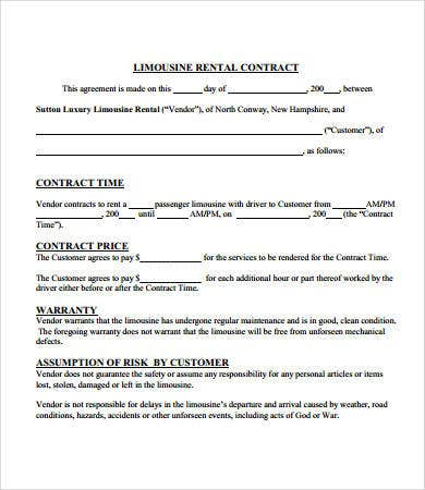 Contract Agreements Free Sample Example Format Free - Free sample contracts