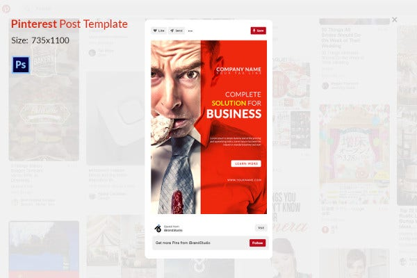 Business Solution Printrest Template