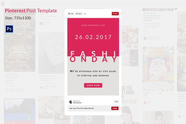Fashion Day Printrest Template