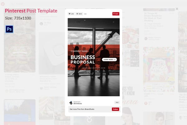 Business Proposal Prinrest Post Template