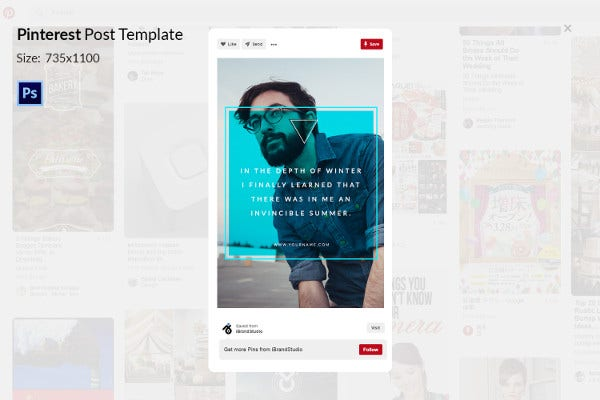 Multipurpose Pinterest Post Template