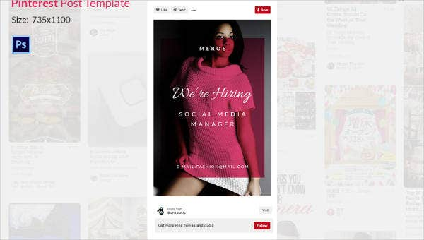 pinterest post template