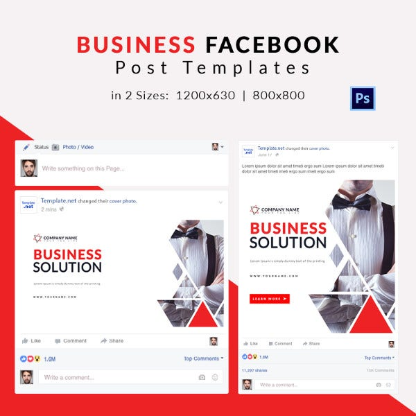 10 free facebook post templates business travel fashion free business facebook post template cheaphphosting Images