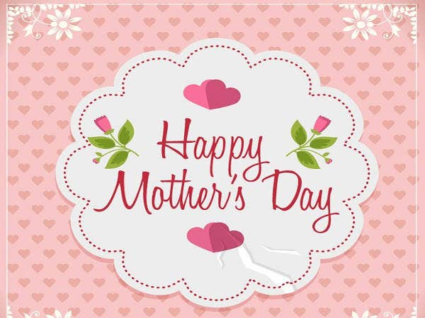 Free Pink Mothers Day Card