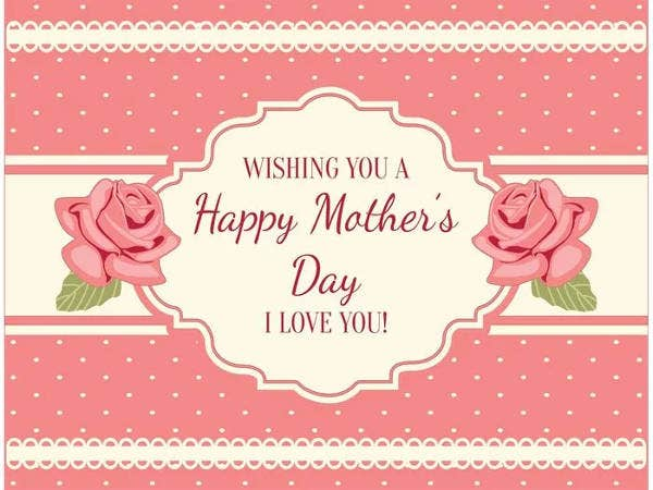 Free Shabby Chic Mother's Day Card