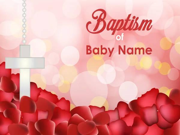 free baby baptism invitation