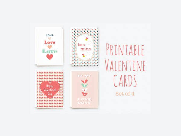 9 free printable valentine cards