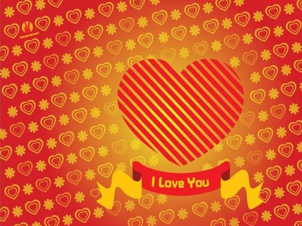 free heart valentine card
