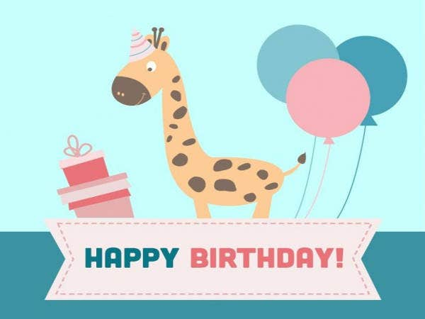 Free Cartoon Birthday Card