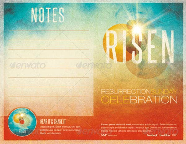 risen church bulletin template