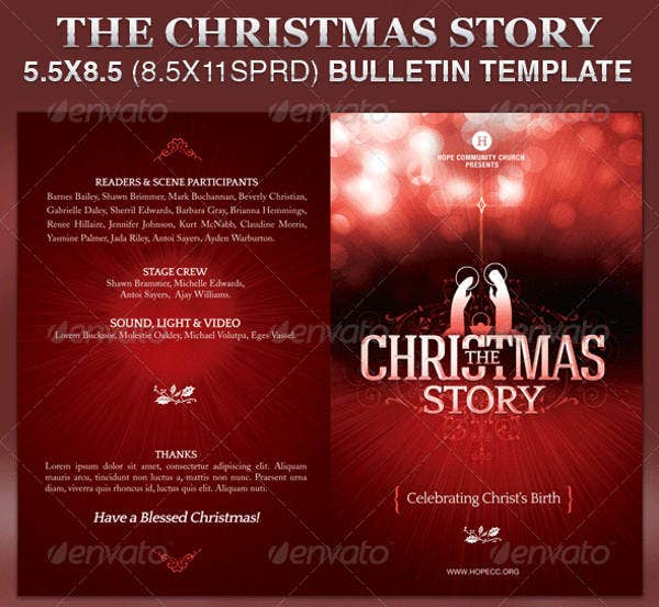 church bulletin template 12 free pdf psd format download free